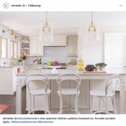 @collectedbyholly's new year/new kitchen updates included our Arundel pendant lights. #WaterworksKitchen #Renovation
